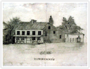 circa 1800-sketch-of Townsend home